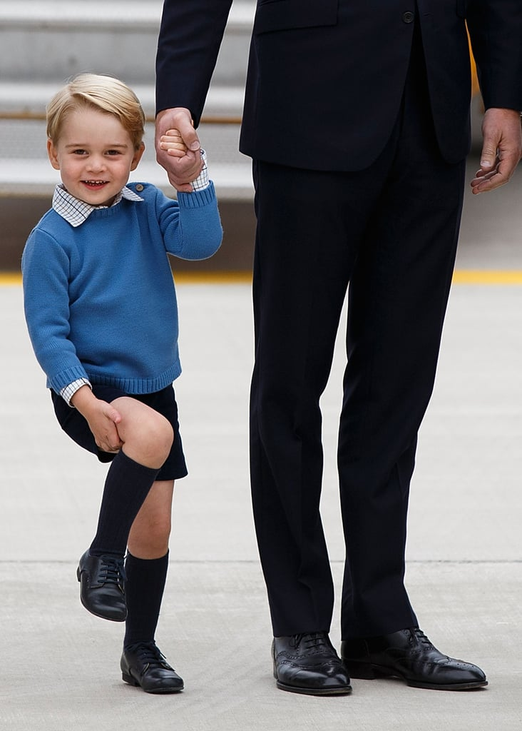 Prince George at Maritime Helicopter Squadron in Victoria, Canada, in September 2016