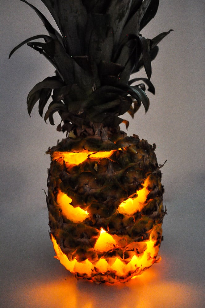 Step 6: Light your candle up inside the pineapple.