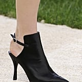 Pointed-Toe Cutout Booties Came in Black, Pink, and White