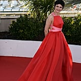 One of our favorite looks from this year's Cannes festival came right at the end — Audrey Tautou in a voluminous orangey-red Prada gown.