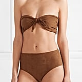 Miguelina Alanis Faux Suede Bandeau Bikini