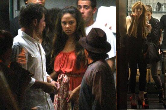 Photos of Nick Lachey, Vanessa Minnillo, Lindsay Lohan, and Samantha Ronson at Crown Bar