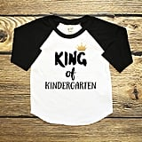King of Kindergarten Baseball Shirt