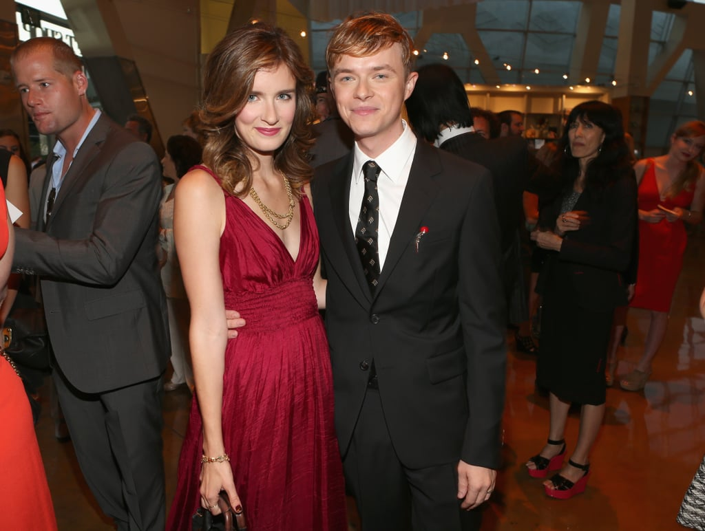 Dane DeHaan and Anna Wood smiled at the premiere of Lawless in LA.