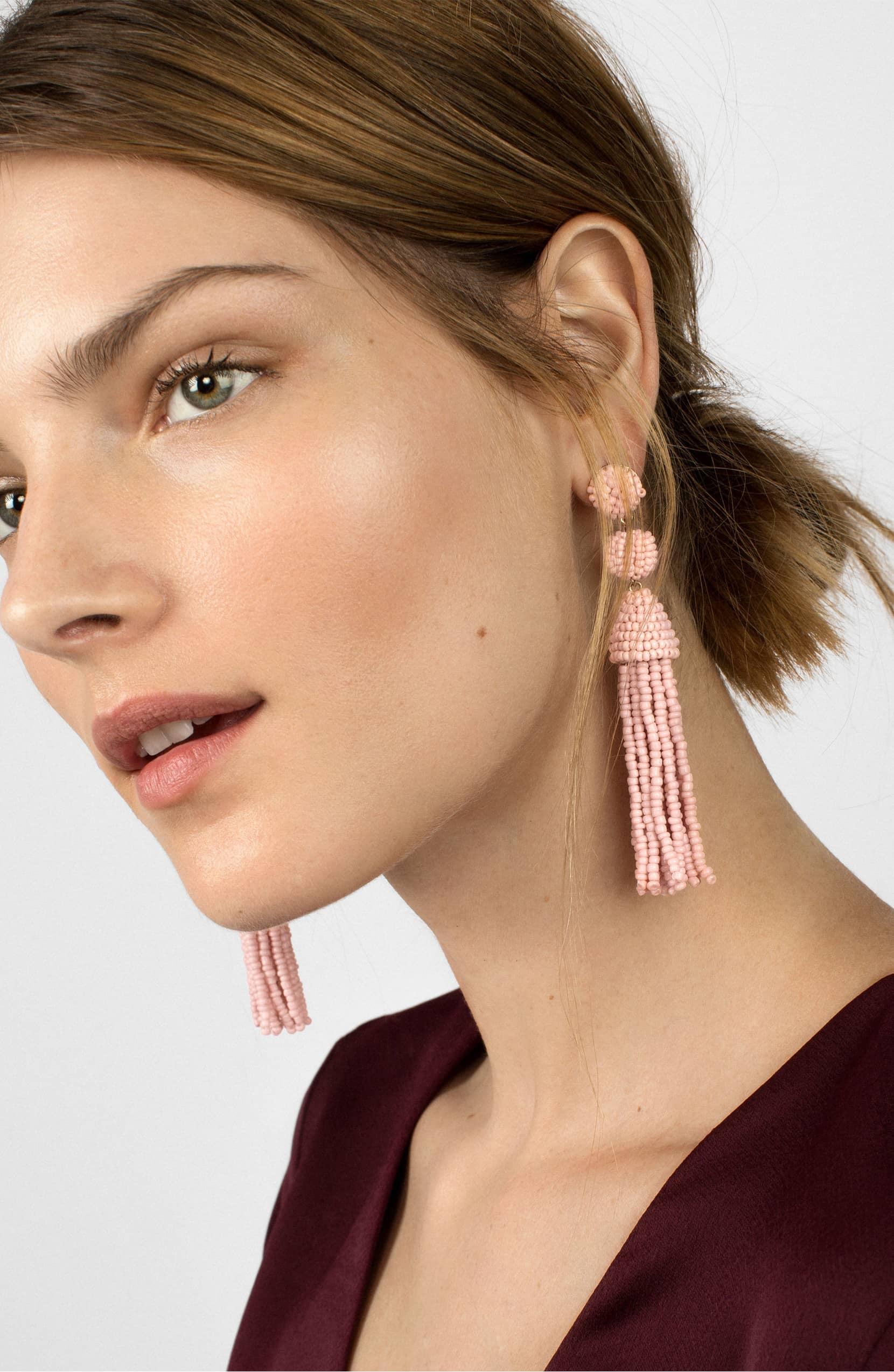 4aef1c92b BaubleBar Granita Beaded Tassel Earrings | The One Accessory That ...