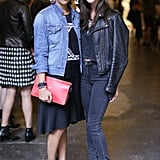 Rashida Jones previewed Dannijo's designs with Danielle Snyder at the label's Fashion Week presentation.
