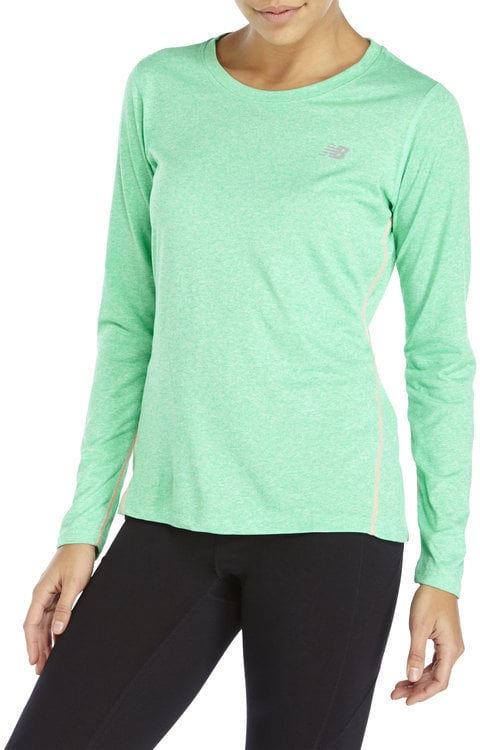 New Balance Heathered Performance Long-Sleeved Tee