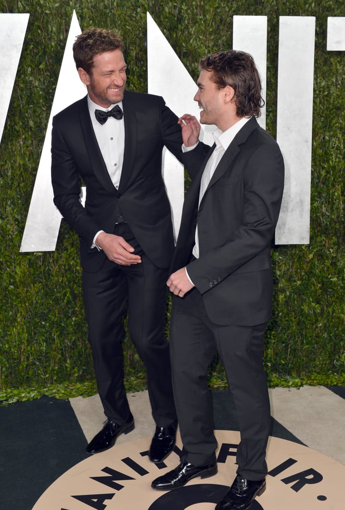 Gerard Butler laughed alongside Emile Hirsch.