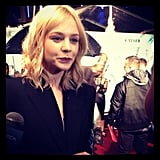 Carey Mulligan, looking gorgeous as ever, was such a delight to talk to on the red carpet. And her voice is so deep! Sexy.