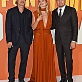 Brad Pitt and Leonardo DiCaprio With Margot Robbie at the UK Premiere of Once Upon a Time in Hollywood