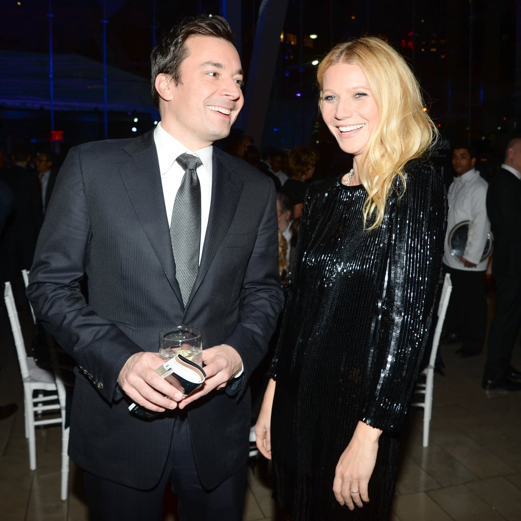 "No, there wasn't an award show last night, but that didn't stop some of Hollywood's biggest names from gathering in NYC on Monday to celebrate an old friend. Gwyneth Paltrow, Reese Witherspoon, Anne Hathaway, and Sarah Jessica Parker were just a few of the boldface names who attended the American Songbook charity gala at Lincoln Center, where they, and a slew of other stars from stage and screen, honored talent agent Bryan Lourd with a night of fundraising and singing. While SJP and Anne entertained the audience, Gwyneth purposefully avoided having to belt out a tune, saying, ""I'm not singing in this crowd."" Instead she hung out with Glee creator Ryan Murphy, Jimmy Fallon, and Reese.  Reese and Gwyneth are continuing to run into each other during the event-heavy months of award season. The two actresses were the golden girls of the Stand Up to Cancer event in Hollywood less than two weeks ago. Before that, they both made an appearance at the 2014 Golden Globes, although Gwyneth kept a low profile while Reese got to have fun with a gag involving Julia Louis-Dreyfus."