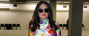 "Salma Hayek's Balenciaga Dress Screams: ""Spring, I'm Ready!"""