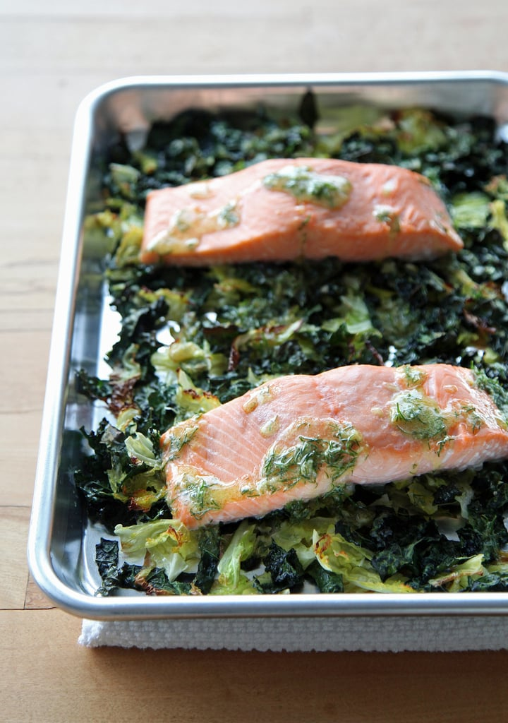 Baked Lemon Salmon With Creamy Dill Sauce Seafood Recipes Popsugar Food Photo 2