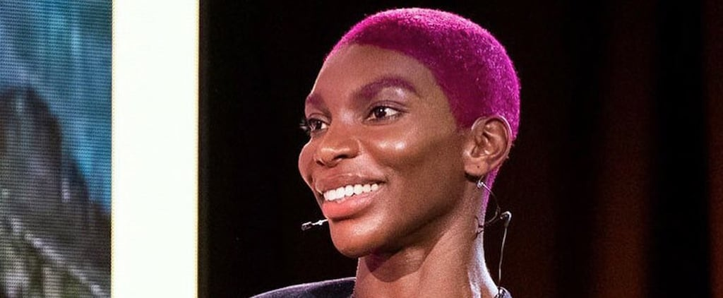 Michaela Coel Dyed Her Eyebrows Purple to Match Her Hair