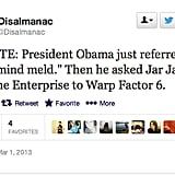Don't follow @Disalmanac's example, Mr. President; leave Jar Jar Binks out of this.