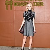 Kiernan Shipka was a girl after our own hearts in a knit Coach dress and bandana.