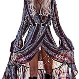 Kuraki Floral Print Maxi Dress