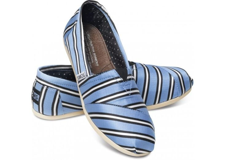 Tabitha Simmons makes the shoes of my dreams, but her prices tend to hover in my fantasy range. With her new collaboration with TOMS, I can not only afford these sweet blue striped slipons ($124), but I can also feel awesome about my purchase thanks to the buy one, give one policy of the brand. Win, win, and another win for how comfy they are.  — Melissa Liebling-Goldberg, fashion and beauty director