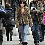 Scarlett Johansson popped up in Scotland to film for Under the Skin.