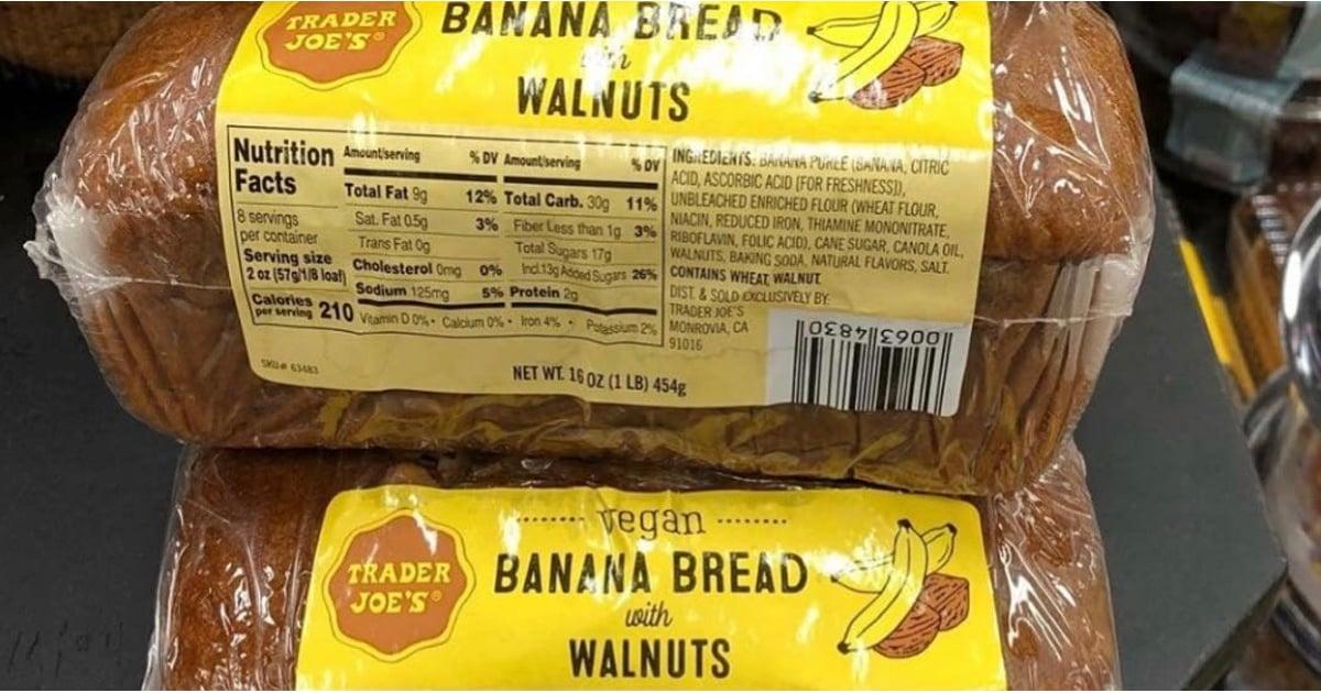 Trader Joe S Vegan Banana Bread Popsugar Fitness
