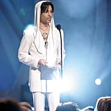Prince looked relaxed and happy when he presented at the People's Choice Awards in January 2005.