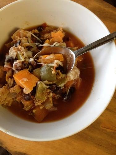 Smokey Sweet Potato & Turkey Chili