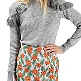 Topshop Ruffle Shoulder Sweater ($68)