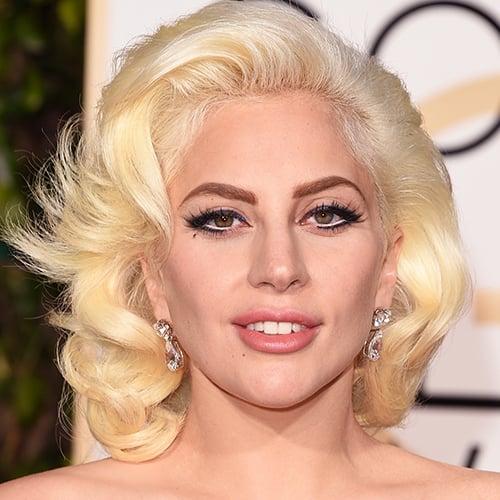 Lady Gaga's Golden Globes Makeup 2016