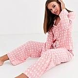 ASOS Design Pink Check Modal Pyjamas