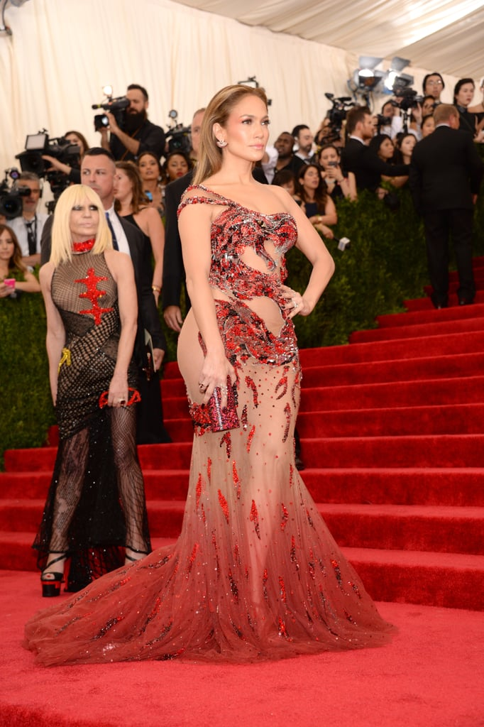 jennifer lopez met gala red carpet style 2015  popsugar
