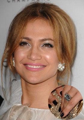 Jennifer Lopez's Black Nail Polish from Dior