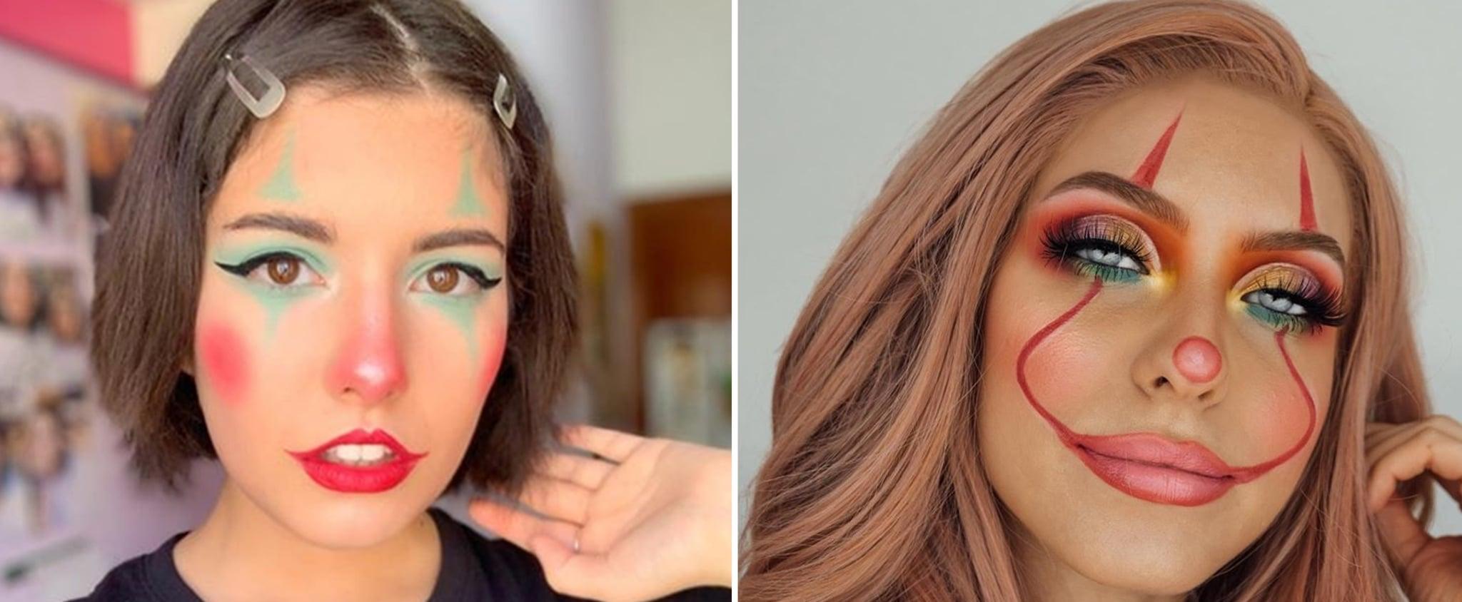 27 Pretty And Cute Clown Halloween Makeup Looks Popsugar Beauty Uk