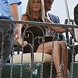 At Jimmy Kimmel's wedding in July, Jennifer Aniston looked sleek and chic in all black. She finished with sexy, black ankle-strap sandals and a chain-handle purse. Follow her lead by going head-to-toe black at your next nuptials.