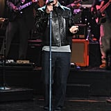 """Justin Timberlake performed his song """"Pusher Love Girl"""" from his album The 20/20 Experience on Late Night With Jimmy Fallon."""