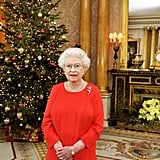 Queen Elizabeth II recorded her Christmas Day TV broadcast in Buckingham Palace on Dec. 9, 2011.