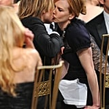 The couple shared a kiss in January 2011 at the SAG Awards in LA.