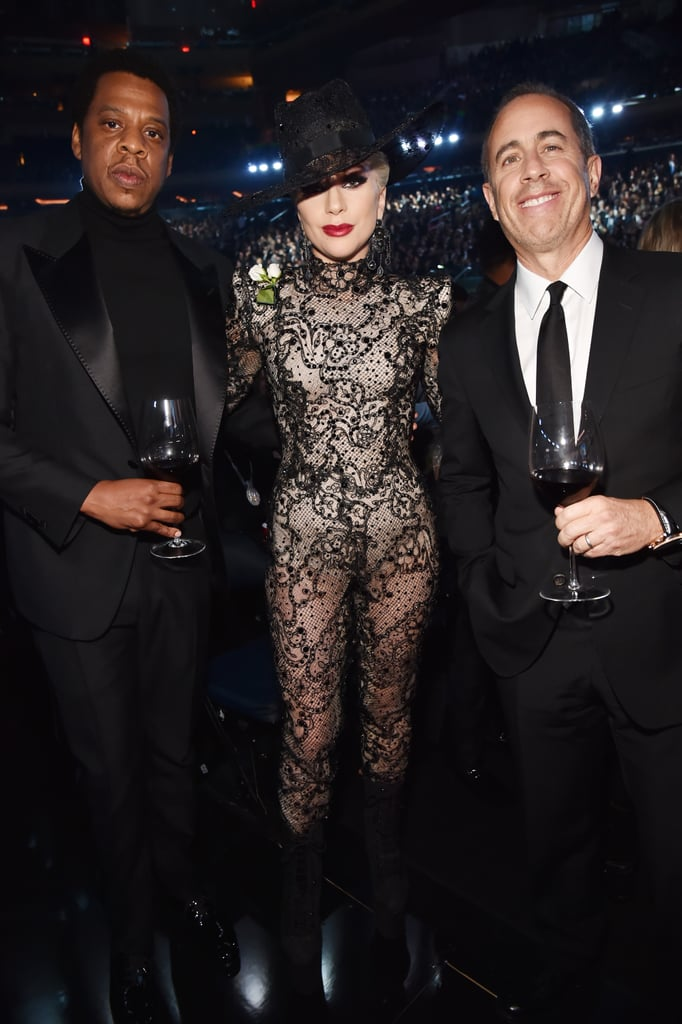 Pictured: JAY-Z, Lady Gaga, and Jerry Seinfeld