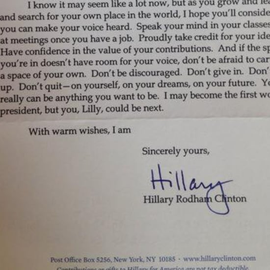 Hillary Clinton's Letter to Girl Who Wants to Go by Lillary
