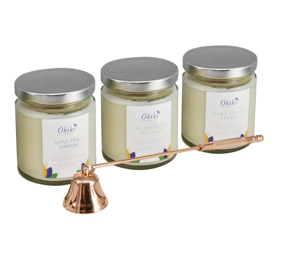 Okiki Calm Flame Candle Gift Set