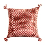 Geometric Pom Square Indigo Pillow