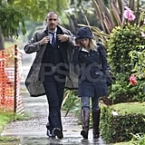 Reese Witherspoon and husband Jim Toth on a rainy day in LA.