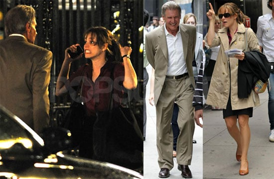 Photos of Rachel McAdams and Harrison Ford on the Set of Morning Glory in NYC