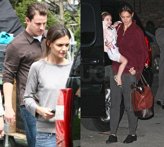 Photos of Katie Holmes and Channing Tatum on the Set of Son of No One in NYC 2010-04-06 05:00:00