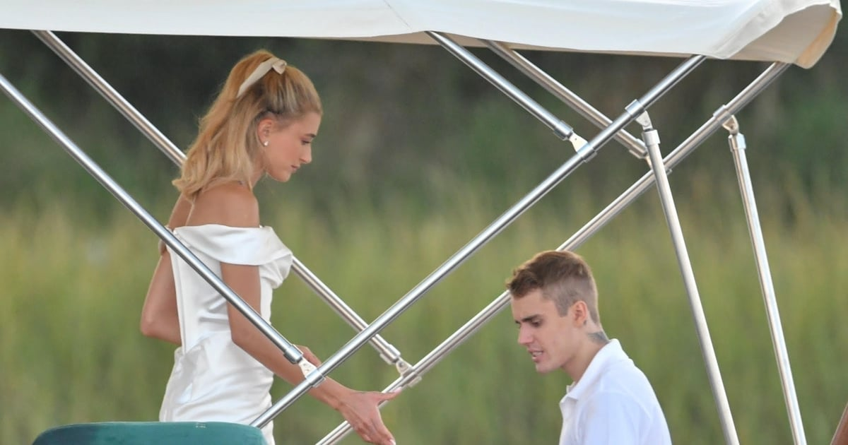Hailey Baldwin's Wedding Rehearsal Dress Was Dreamy, but Wait Until You See Her Nails