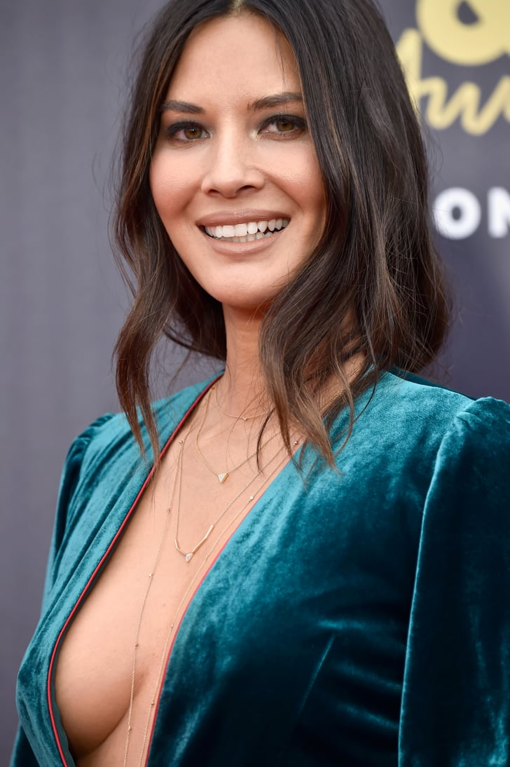 Olivia Munn Green Jumpsuit Mtv Awards 2018  Popsugar Fashion Photo 10-7345