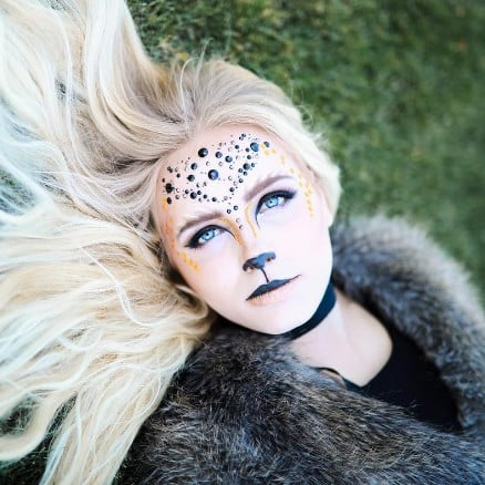 Glam Lion Halloween Makeup Ideas