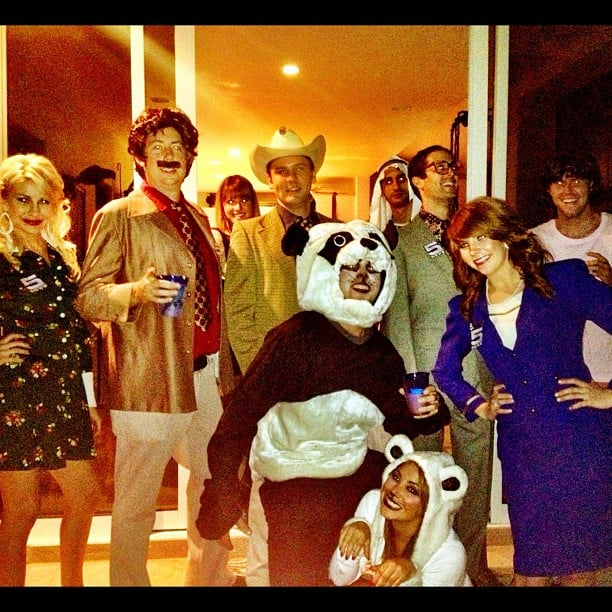 Stephen Colletti was the wildlife of the party in a panda suit. Source: Instagram user stephencolletti