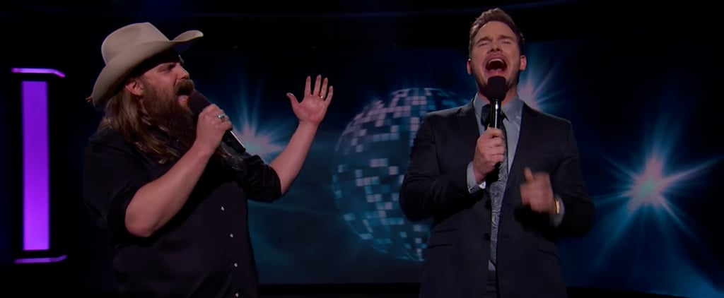 Chris Pratt Does NOT Hold Back Singing This Cheesy Duet With Chris Stapleton
