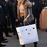 In Paris for the Victoria's Secret Fashion Show on Nov. 30.