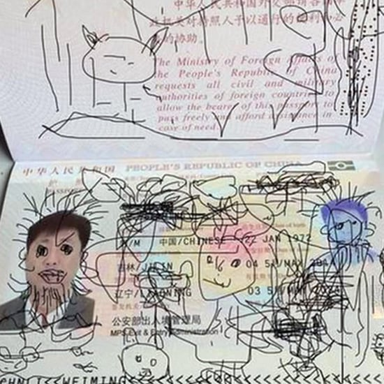 Child Draws on Dad's Passport